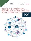 Building TheToronto Region Into a Global Fintech Leader TFSA 2017