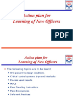 Action Plan for the Performance of New Officers