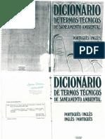 Dicionário de Termos Técnicos - Saneamento Ambiental