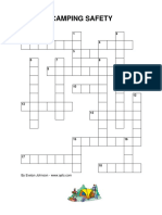 Camping Safety Lp Ff Crossword
