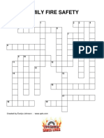 Family Fire Safety Lp Ff Crossword