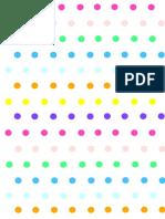 Polka Dots Paper Batch 3 Rainbow