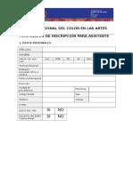 ColorenlasArtes2017 Inscripción ASISTENCIA