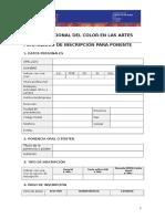 ColorenlasArtes2017 Inscripción Ponente