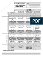 practical experience rubric 2015