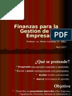 Finanzas Para La Gestion 2017 I