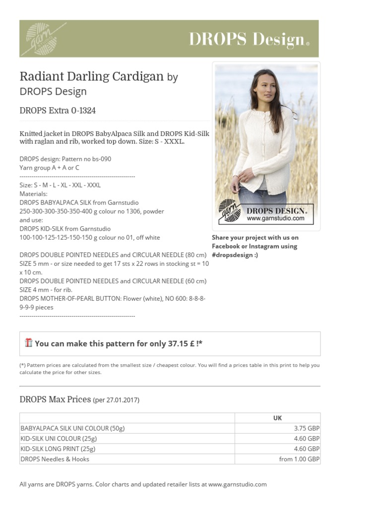 Radiant Darling Cardigan - Knitted Jacket in DROPS