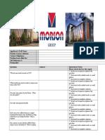 MORSON GROUP Job Interview Questionnaire Form