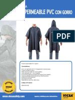 ficha comercial poncho impermeable pvc cgorro