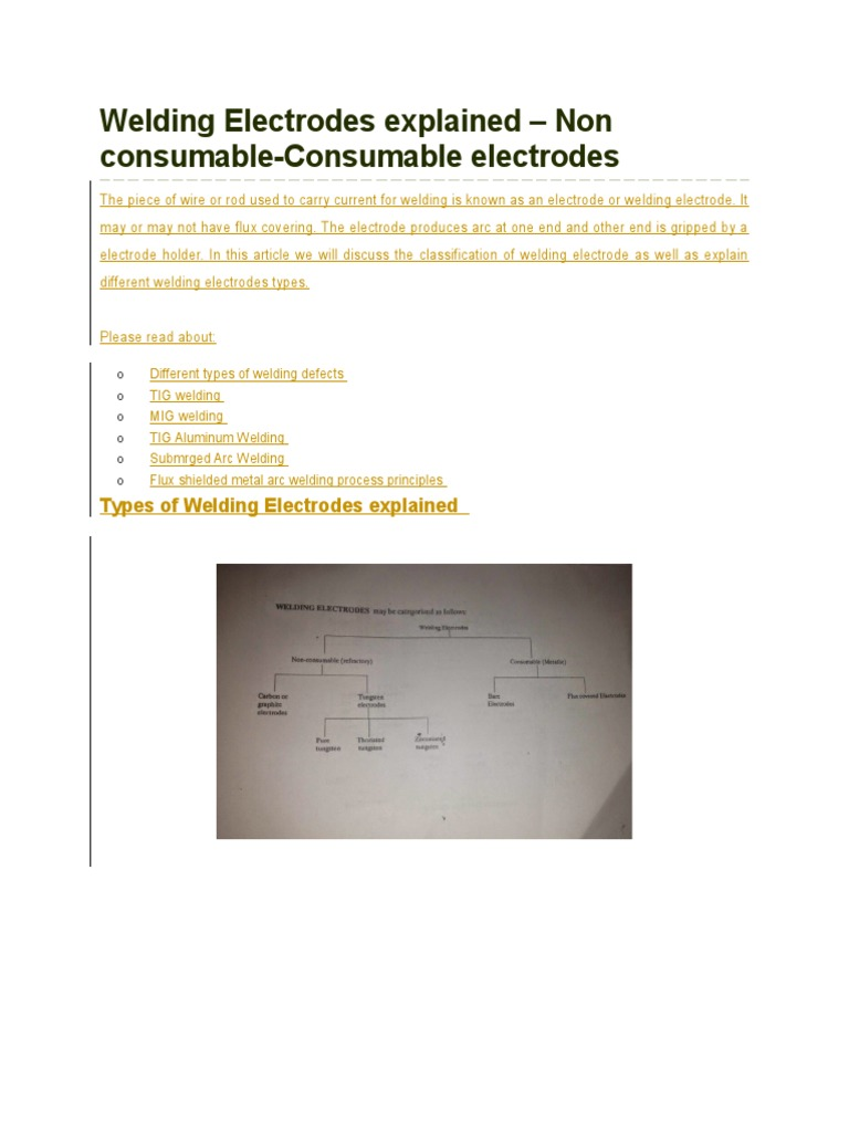 Welding Electrodes Explained Metalworking Mig Process Diagram
