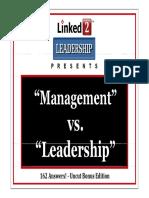 Management vs Leadership on Linkedin