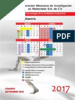 Calendario Mayo - Agosto 17