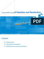 ZTE UMTS Cell Selection and Reselection.ppt