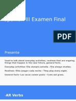 spanish iii examen final