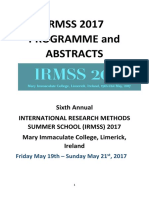 Irmss Conference Programme Final Copy_irmss 15.05.2017