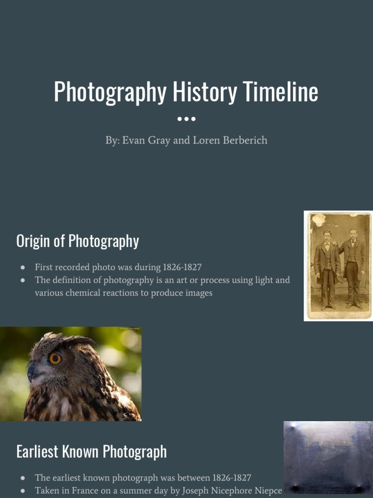 Photography Timeline