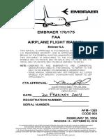 EMBRAER 170/175 AIRPLANE FLIGHT MANUAL