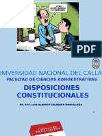 7. DISPOSICIONES CONSTITUCIONALES