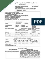 Morgan Stanley Resume Format