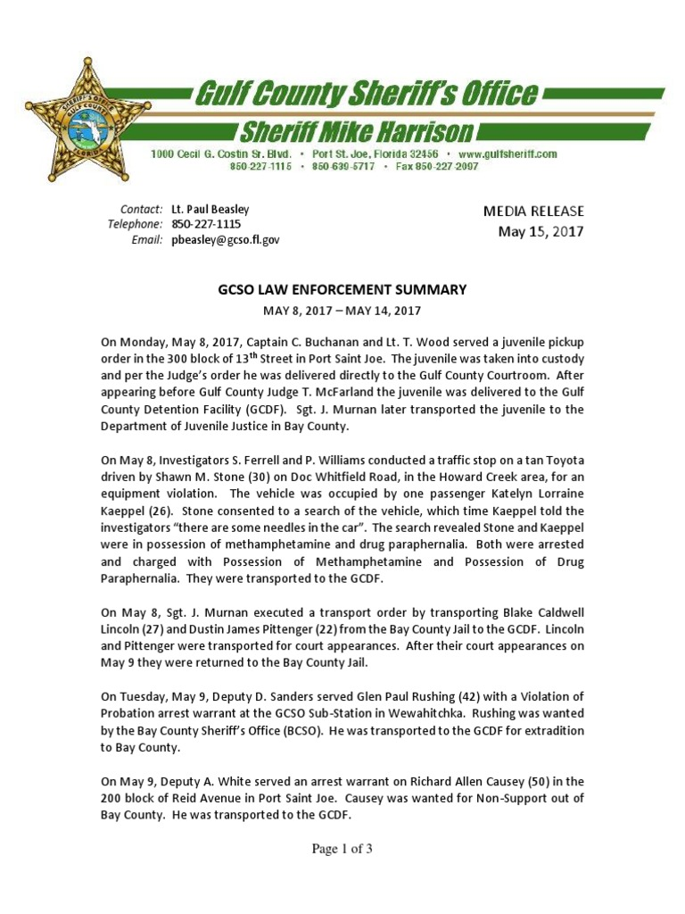 Ra Bay County Sheriffs - Keshowazo