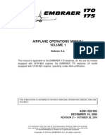 EMBRAER 170-175 AIRPLANE OPERATIONS MANUAL VOLUME 1