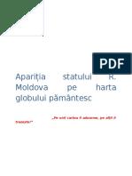 Apariția Republicii Moldova Pe Harta Lumii