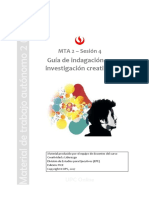 Indagación e Investigación Creativa