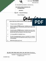 2012 Physics Paper 2