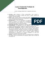 Rúbrica de Evaluación Trabajos Impresos