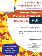 Marrs Spelling Bee Pronunciation Phonemic Practice Tests TWO