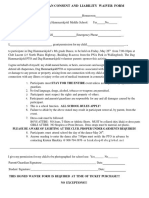 8th grade dance - permission slip -  consent and liabilty form