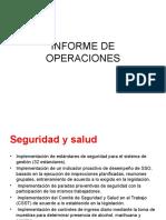 Informe de Operaciones