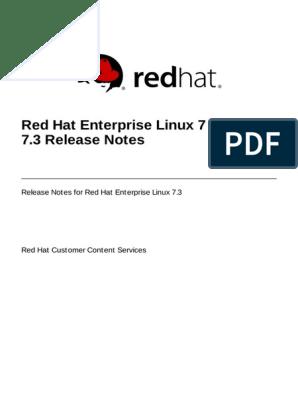 Red Hat Enterprise Linux-7-7 3 Release Notes-En-US   Red Hat   Free