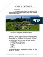 Water Rocket Challenge Competition Rules