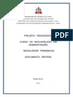 Projeto Pedagógico Curso de Administração UFPa ATUAL 19.02.16