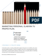Marketing Personal_ Elabora Tu Propio Plan