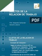 sujetosdelarelaciondetrabajo-090701145605-phpapp01