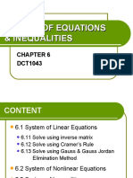 Chapter6 System of Equations & Inequalities