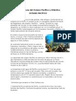 Flora y Fauna Del Océano Pacifico y Atlántico