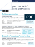 McKinsey Roles for PhDs