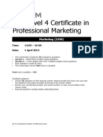 CIM L4 Marketing April 2015 Exam_Paper