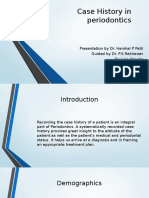 Case History in Periodontics