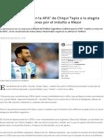 De La _credibilidad en La AFA_ de Chiqui Tapia a La Alegría de Tinelli, Las Reacciones Por El Indulto a Messi - 05.05