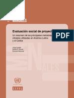 Evaluación Social de Proyectos Un Resumen de Las Principales Metodologías Oficiales Utilizadas en América Latina y El Caribe