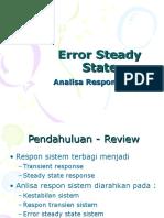 Slide Error Steady State