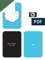 Manual Impresora Hp2500 Español