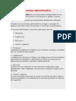 Ejemplo de Proceso Administrativo de Galleteria