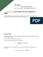 composicion porcentual quimica ejercicios