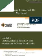 Unidad 6 Cultura, religión, filosofía y vida cotidiana en la Plena Edad Media