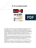 Manual de Itil v3 en Español Gratis